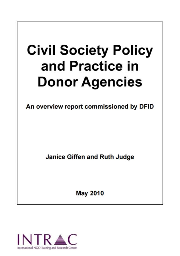 Civil society policy and practice in donor agencies