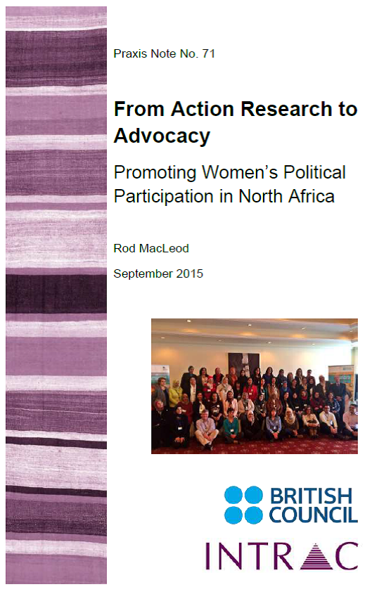 Praxis Note 71 From action research to advocacy cover