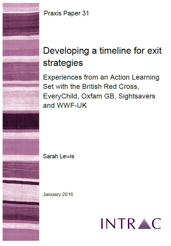 praxis paper 31 developing a timeline for exit strategies intrac
