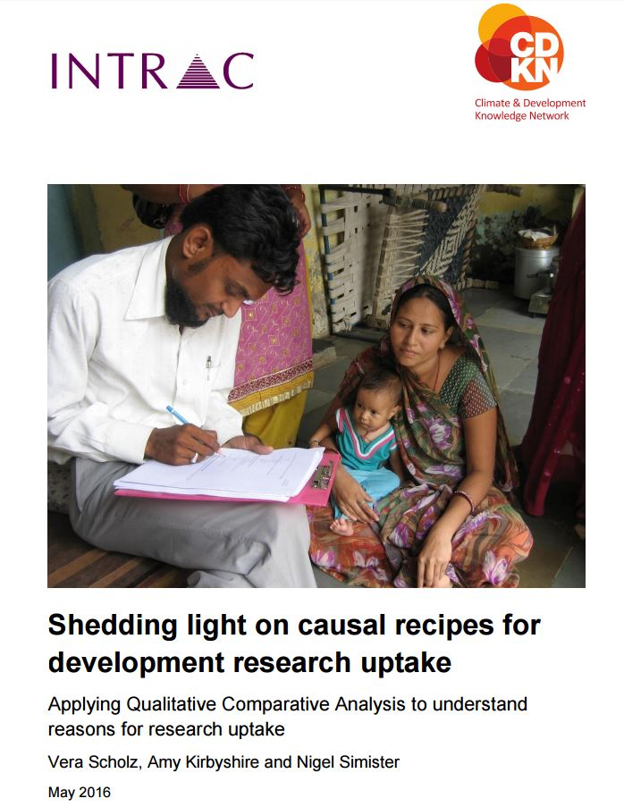 Shedding light on causal recipes for development research uptake cover web