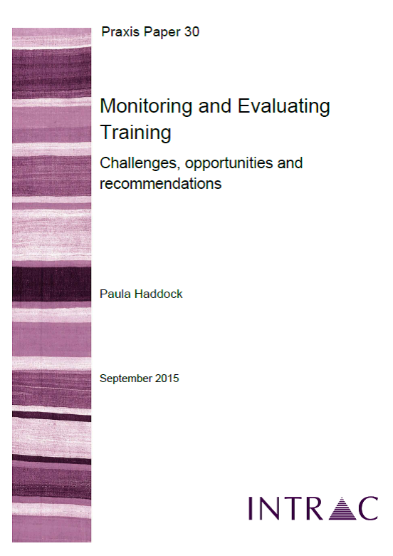 praxis paper 30 monitoring and evaluating training challenges